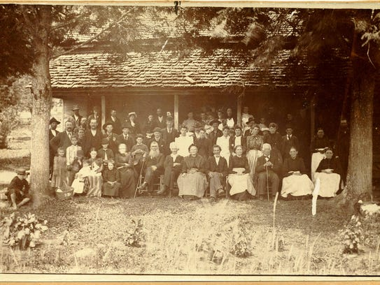 An undated photo shows the Siler clan gathering at