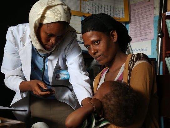 Amina Hussein's malnourished baby girl Safiya Amano