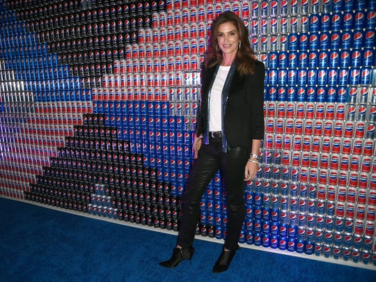 Cindy Crawford visits the Pepsi Generations Live Pop-Up on Feb. 2, 2018 in Minneapolis, Minn.