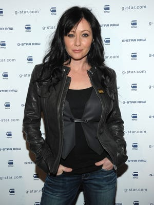 Actress Shannen Doherty backstage at G-Star Raw Presents NY Raw Fall/Winter 2010 Collection at Hammerstein Ballroom on February 16, 2010 in New York, New York.