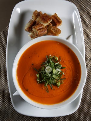 The Tomato Kaffir Soup served at the Wiltshire at the Speed.  May 26, 2016