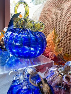 Glass pumpkins are pictured on Wednesday, Oct. 11, 2017, during First City Art Center's Media Day to preview the 11th annual Pumpkin Patch. More than 4,000 glass and clay pumpkins will be available at the Pumpkin Patch Preview Party on Friday, Oct. 13, 2017, and the Pumpkin Patch on Saturday, Oct. 14, 2017.