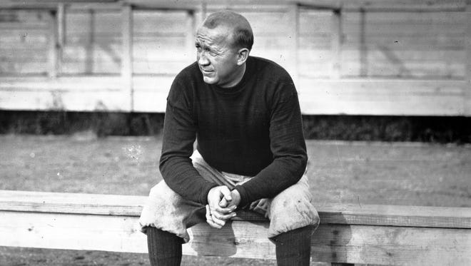 Notre Dame football coach Knute Rockne compiled a 105-12-5 record from 1918 to 1931.