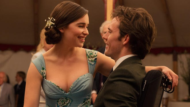 "Emilia Clarke and Sam Claflin in ""Me Before You."""
