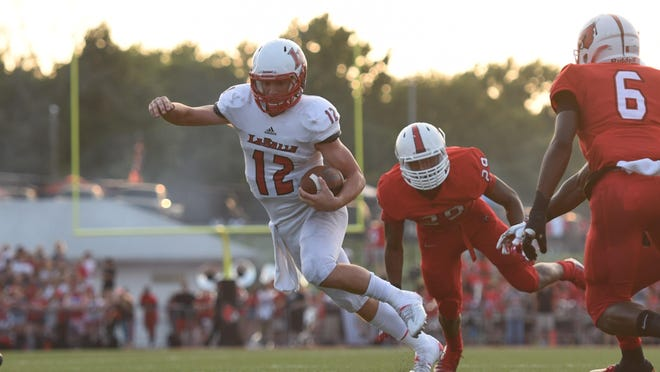 Griffin Merritt threw for 251 yards and two touchdowns in La Salle's loss to Christian Brothers Saturday.