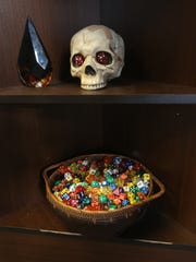 The decor at Dungeon Games in Estero is meant to add