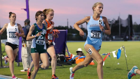 Natalie Tanner runs to a fifth-place finish at Regionals