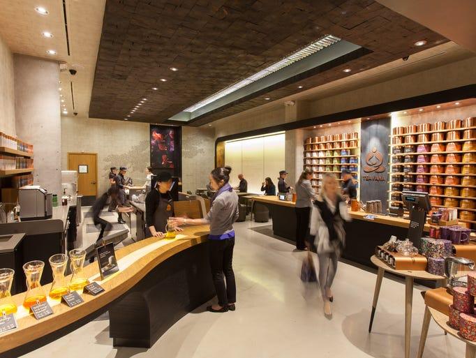 Starbucks first-of-its-kind Teavana Fine Teas + Tea Bar in New York City's Upper East Side.
