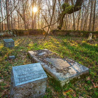 This cemetery was built on a Native American mound