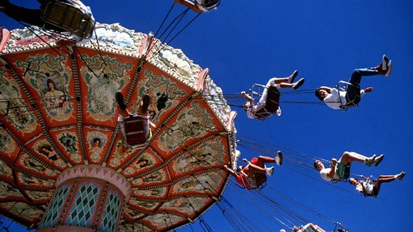 Fair-goers enjoy the rides at the Sioux Empire Fair.