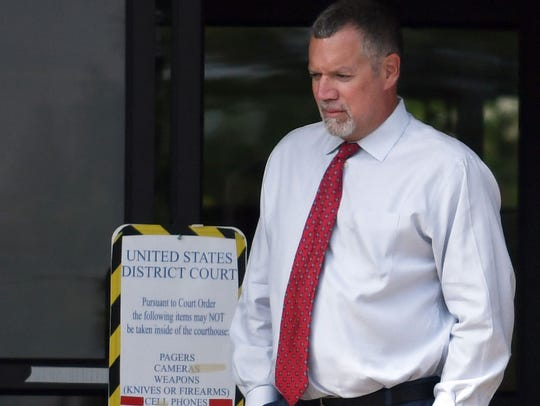 Gregory Grafton Parker of Laurel, who was a nurse practitioner, leaves William M. Colmer Federal Courthouse in Hattiesburg on  July 18, 2018, after pleading guilty to his role in a more than $400 million compound pharmacy scheme.