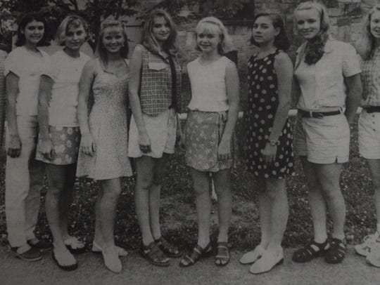 The Miss Teen Union County Fair participants in July