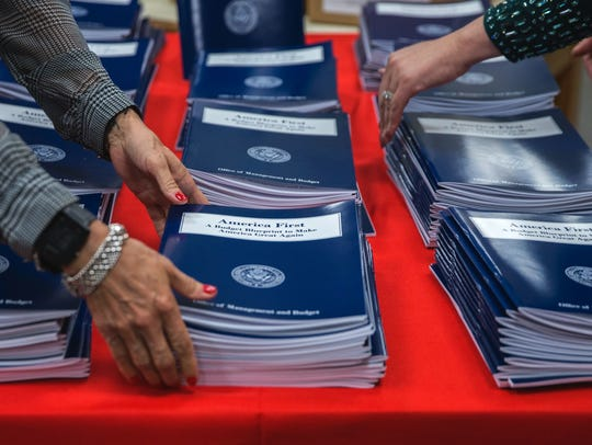 President Trump's first budget asked for a $54 billion