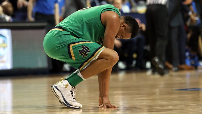 FILE – Bonzie Colson's Notre Dame career came to a frustrating finish Saturday in the NIT.