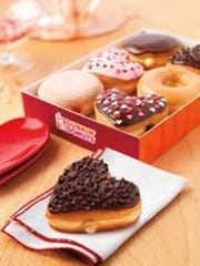 Dunkin' Donuts brings back two of its heart-shaped doughnuts.