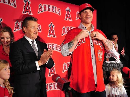 USP MLB: LOS ANGELES ANGELS-PRESS CONFERENCE S BKN USA CA