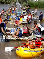 Entrants at the annual Raft the Rio event make sure