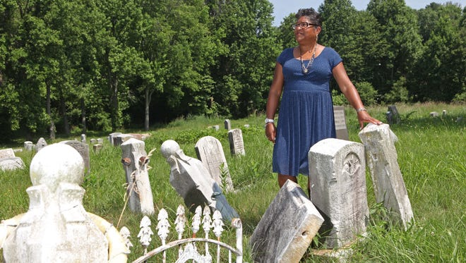 Paula Hearst, president of the Black Cemetery Restoration Civic Association, is trying to raise money to help revitalize Mt. Zion Cemetery on Lancaster Pike.