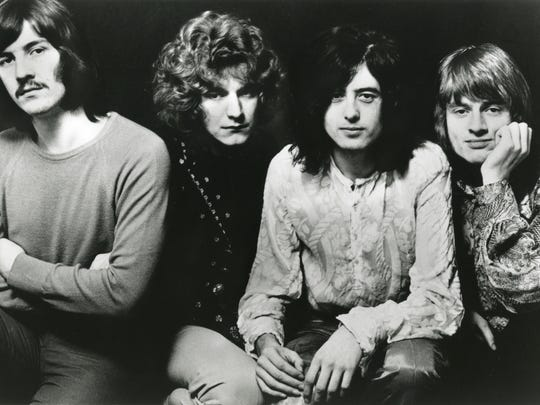 This photo from Atlantic Records shows Led Zeppelin in 1969.