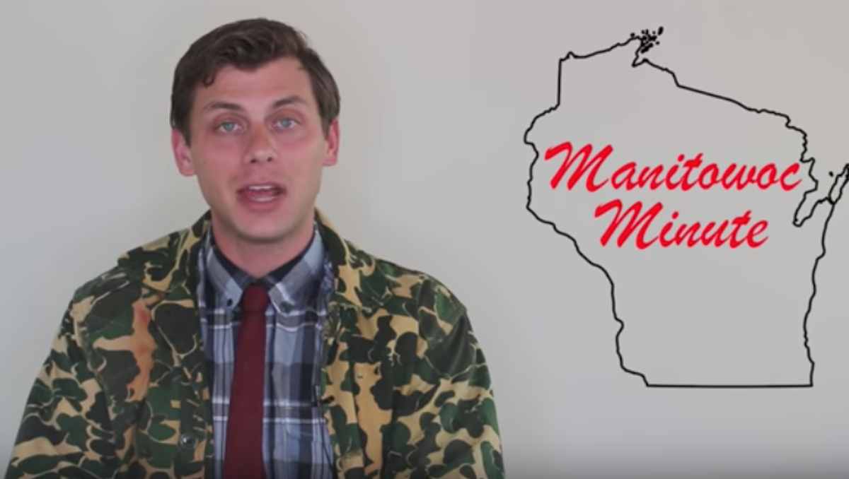 """Charlie Berens performs in his comedy video series, """"The Manitowoc Minute."""""""
