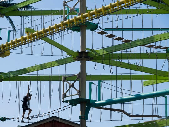 The Ropes Course is one of the draws at the Island