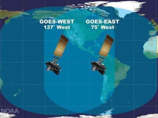 The two new satellites will watch over almost the entire