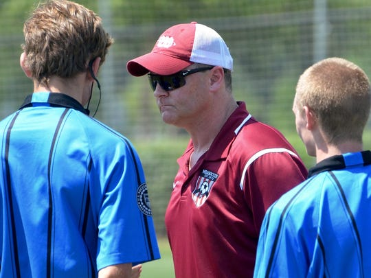 MBA soccer coach Giles Cheevers
