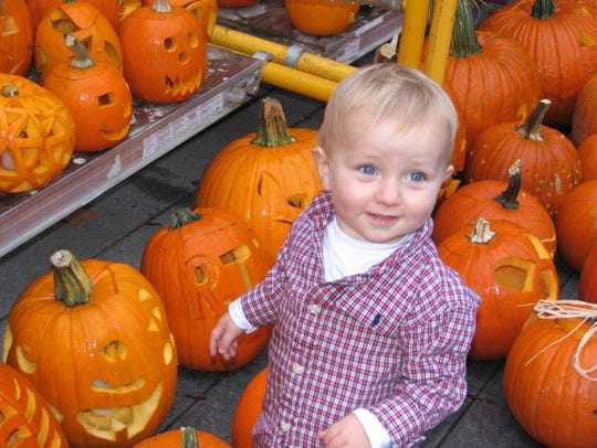 Isaiah Morley, 13 months old, at the 2005 Harvest Festival
