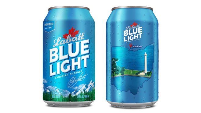 Labatt USA is partnering with Lake Erie Waterkeeper and releasing limited edition cans of Labatt Blue Light featuring Perry's Victory and International Peace Memorial on Put-in-Bay.