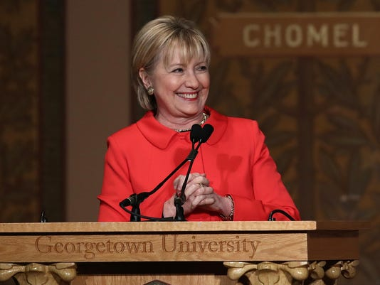 Hillary Clinton Attends Georgetown Institute For Women, Peace And Security Event