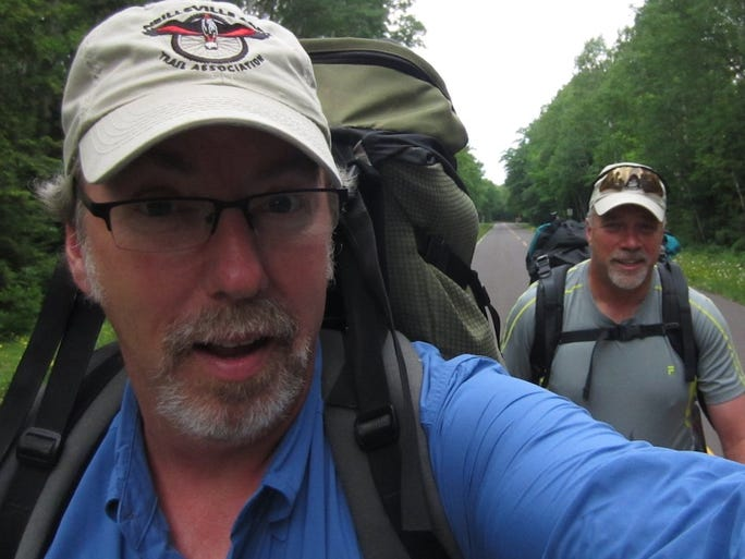 Mark Haferman of Marshfield and Dave Borman of Ladysmith backpacked through the Sylvania Wilderness and Porcupine Mountains in Michigan's Upper Peninsula in June 2014.