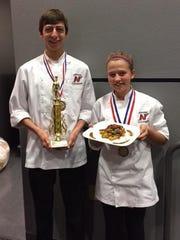 The Neenah High School culinary team of Jacob Solis,