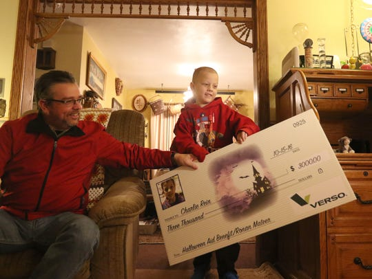 Ronan Mateer, an 8-year-old with several cancers, brings