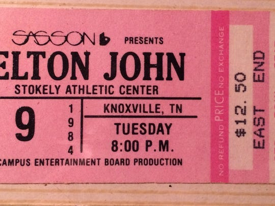 Dan Proctor saved his ticket stub to Elton John's 1984