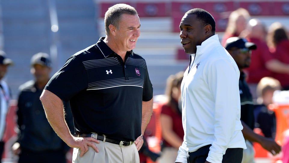 USC interim head football coach Shawn Elliott and Vanderbilt