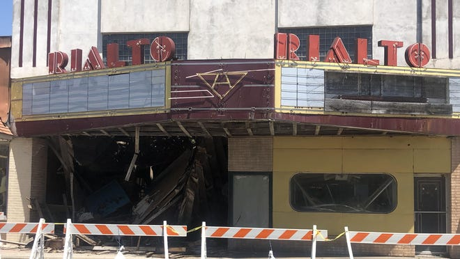 Picture was taken in August during the demolition of the Rialto Theater.