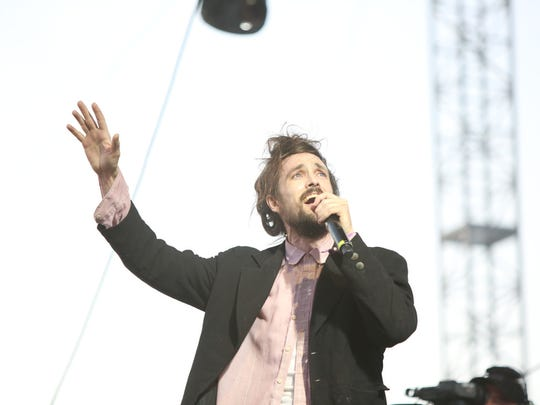 Edward Sharpe and the Magnetic Zeros performs during weekend one of the Coachella Valley Music and Arts Festival in Indio on Sunday, April 17 2016.