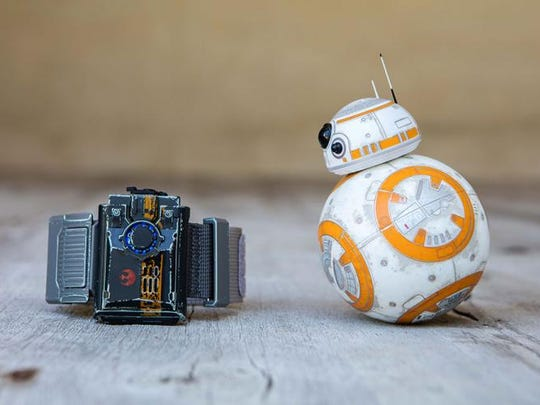 """Sphero's BB-8 robot with a """"Force Band"""" to adds new"""