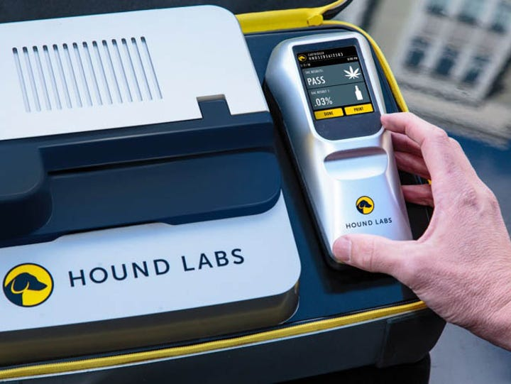 Hound Lab breathalyzers would detect both alcohol and