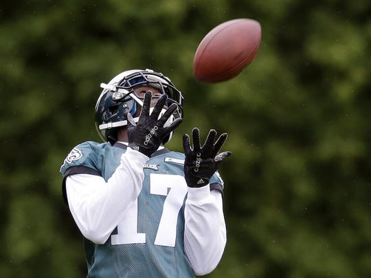 Eagles' wide receiver Nelson Agholor had just 22 receptions for 283 yards last season as a rookie.