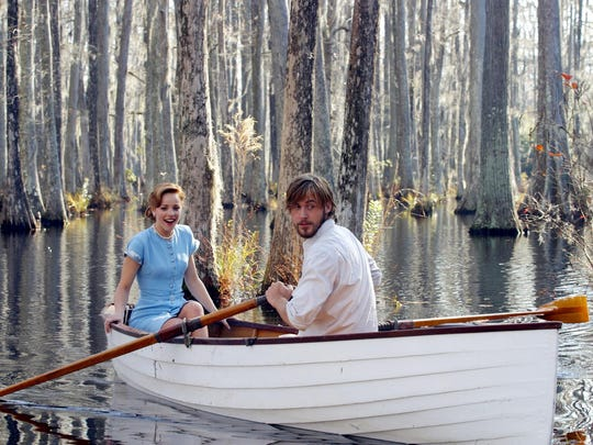 """Rachel McAdams, left, and Ryan Gosling in a scene from the motion picture """"The Notebook."""""""