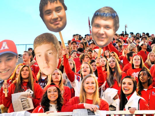 Apollo High School fans watch the game against Sartell on Michie Field Wednesday.