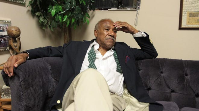 Mount Vernon Mayor Ernie Davis in his City Hall office after his misdemeanor guilty plea Oct. 14 in U.S. District Court. A group of Mount Vernon residents is calling on Davis to resign.
