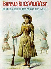 Annie Oakley toured with Buffalo Bill's Wild West show for 17 years, earning a reputation around the world as a sharpshooter.