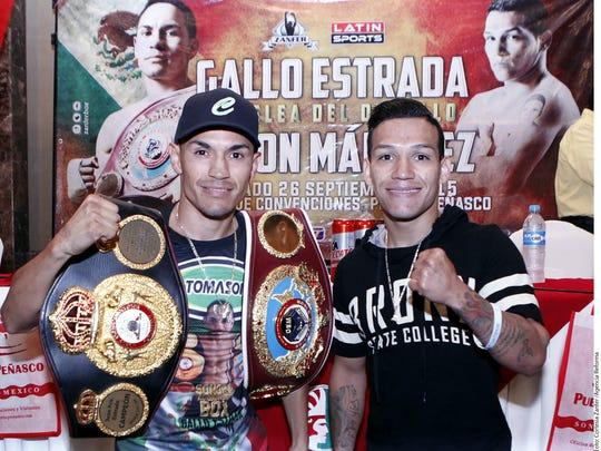 """""""Gallo"""" Estrada y """"Tyson"""" Márquez se darán con todo en Puerto Peñasco."""
