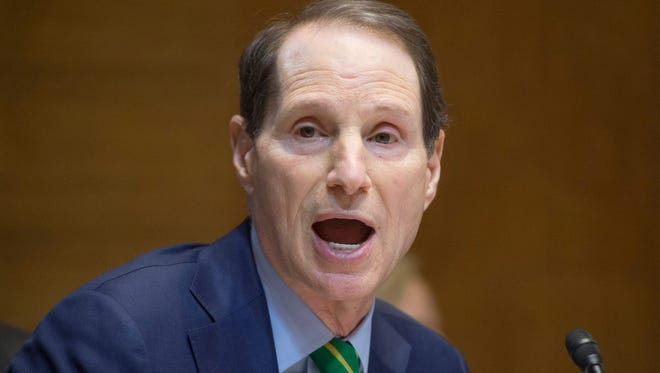 Democratic Senator from Oregon Ron Wyden speaks during the US Senate Energy and Natural Resources Committee markup of legislation to approve the Keystone XL pipeline project, on Capitol Hill in Washington DC, on Jan. 8, 2015.