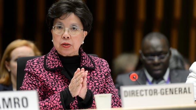 Margaret Chan, director-general of the World Health Organization (WHO), speaks about the Information Session on Zika virus for WHO Member States, during the 138th WHO Executive Board session, at the WHO headquarters in Geneva, Switzerland, 28 January 2016.