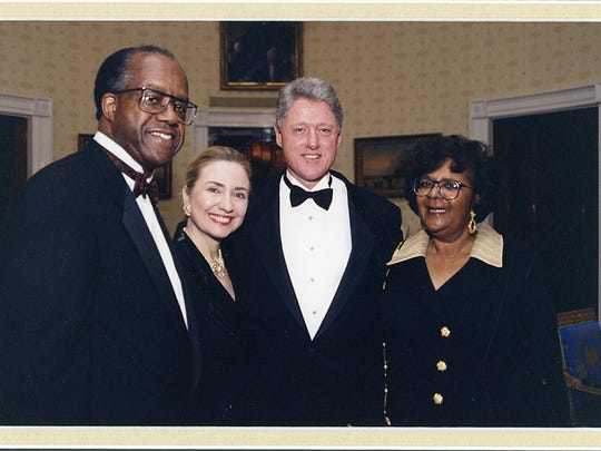 Benjamin Payton, Hillary Clinton, President Bill Clinton and Thelma Payton. In 1997 President Bill Clinton issued an official policy for the actions of the US government during the Tuskegee syphilis experiment begun in 1932.