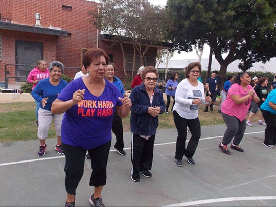 Some of the participants in 3 WINS Fitness have diabetes, high blood pressure or other chronic diseases. The free program, run by Cal State Northridge kinesiology students, gives people a way to exercise without having to pay for expensive gym memberships.