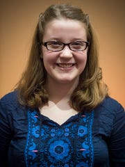 Kaillyn Hawbaker is pictured inside Central Presbyterian